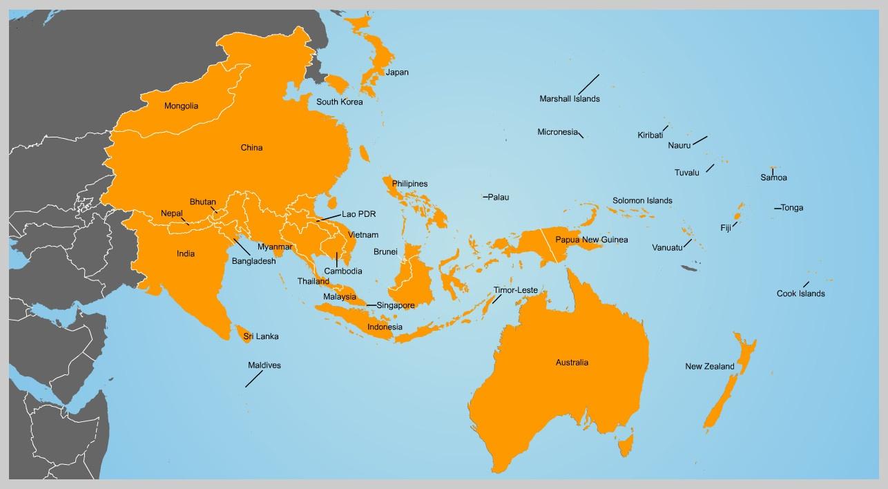 Asya Pasifik Haritasi