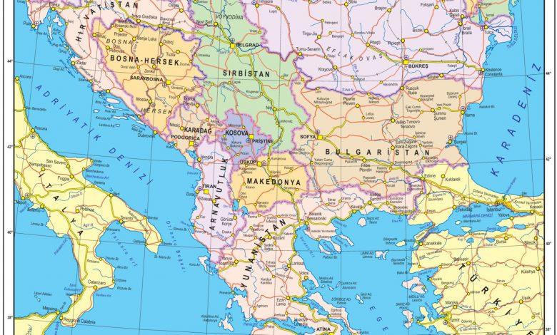 Balkanlar Siyasi Haritasi