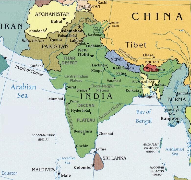 Guney Asya Haritasi
