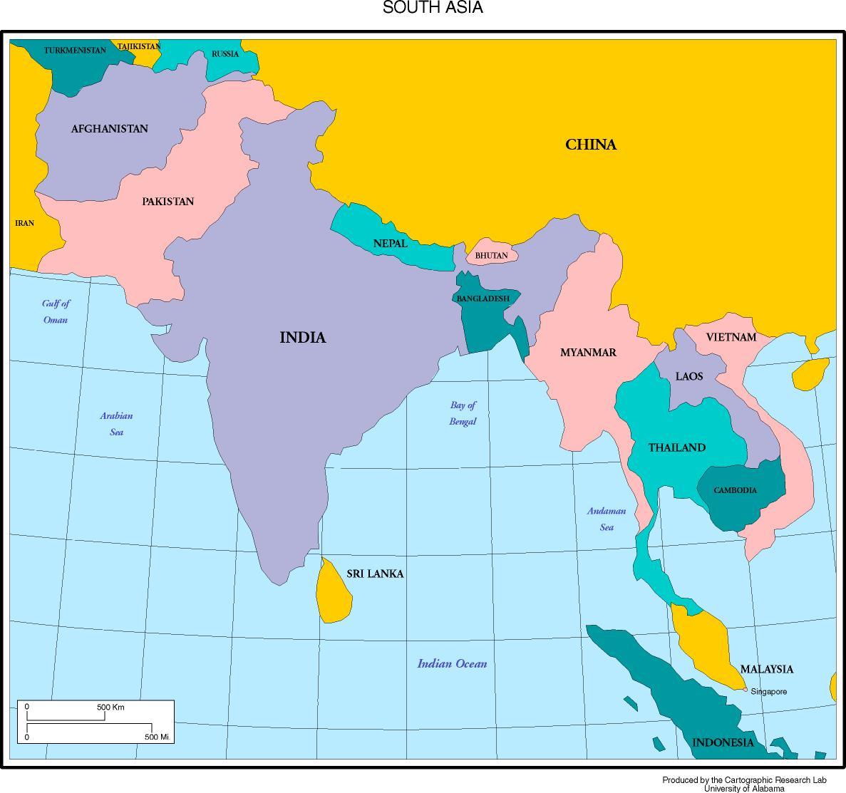 Guney Asya Ulkeleri