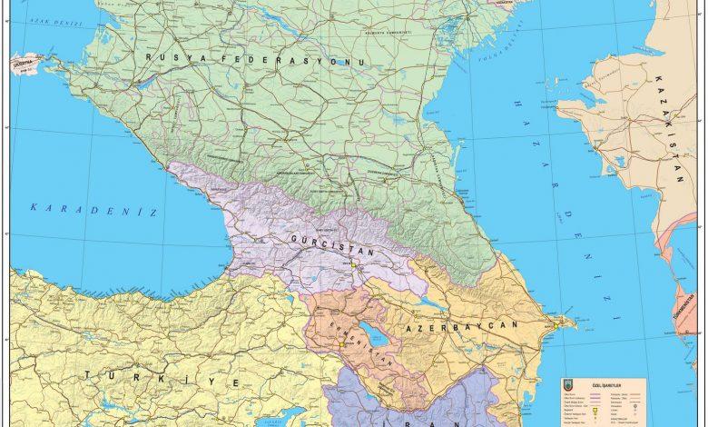Kafkasya Siyasi Haritasi 2019