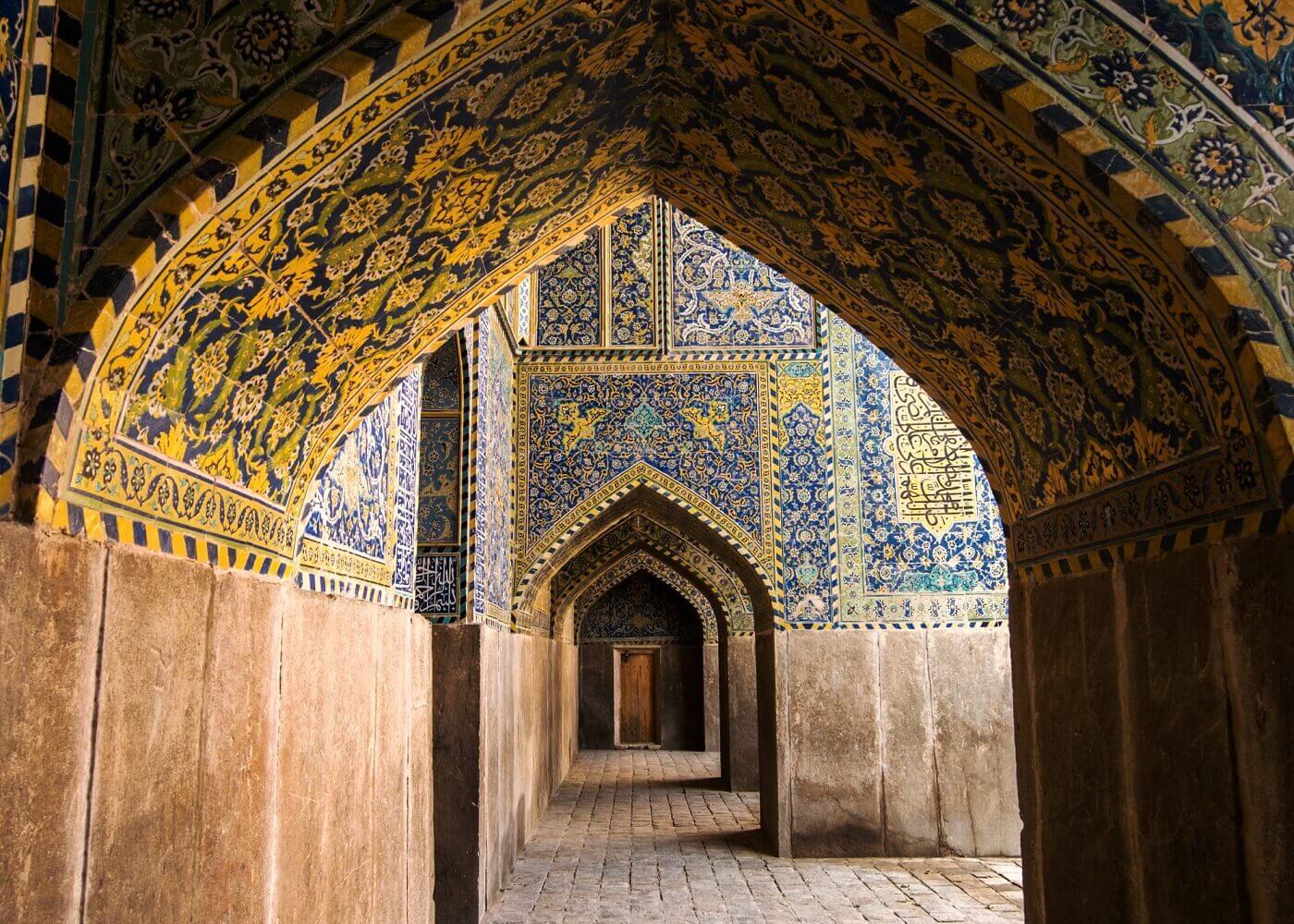 Cami i Abbasi Mescid i Sah Revaklari Isfahan