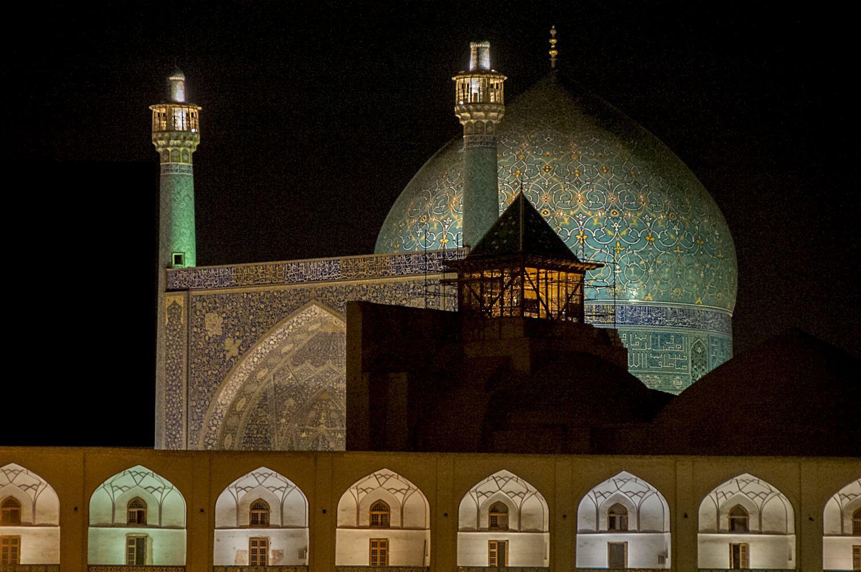 Mescid i Sah Gece Gorunumu Isfahan Iran