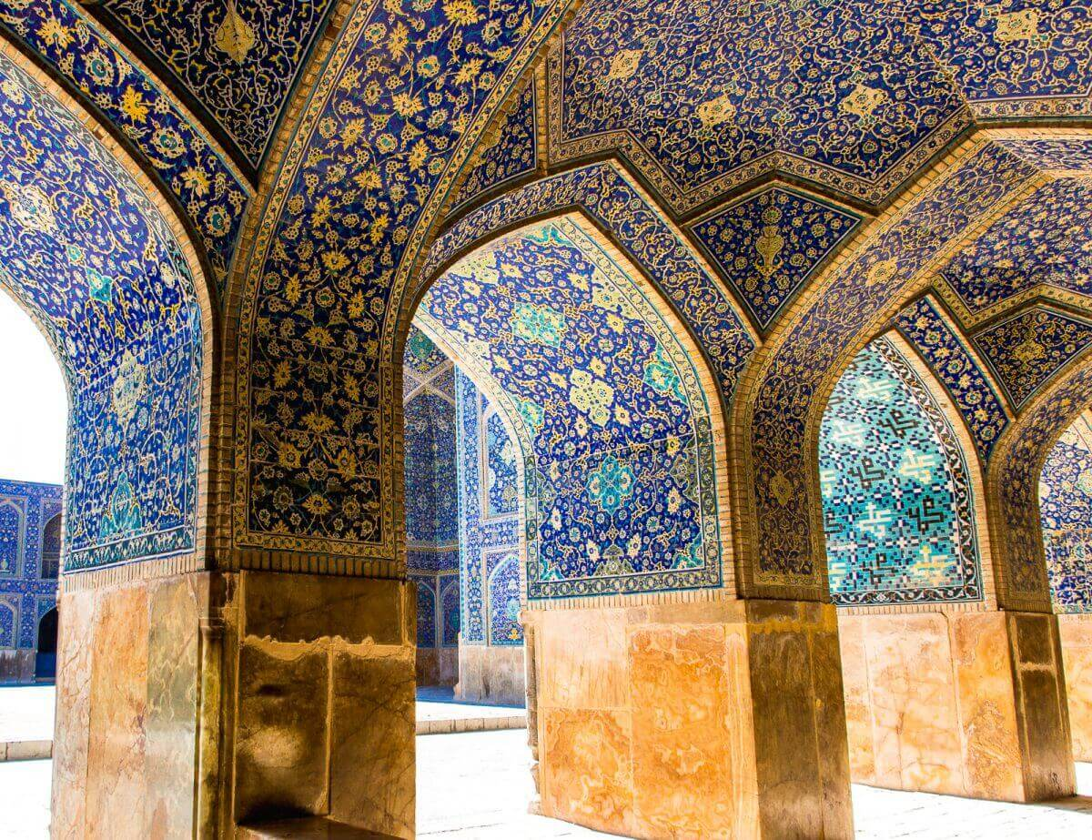 Revak Kaplamalari Mescidi Sah Isfahan