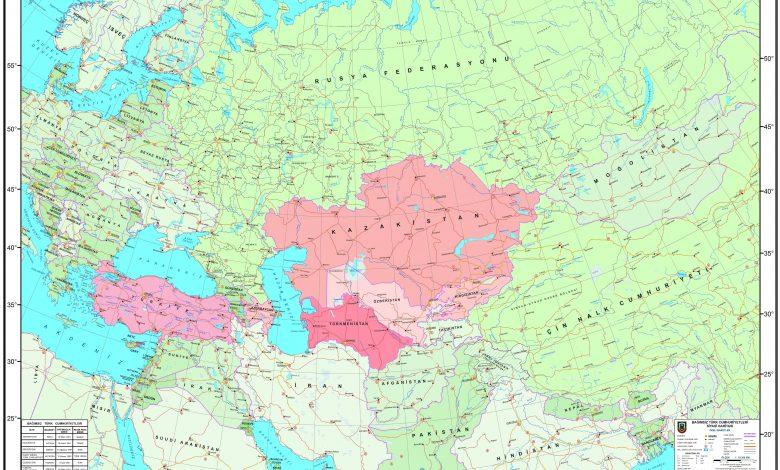 Bagimsiz Turk Cumhuriyetleri Siyasi Haritasi HaritaGovTr min