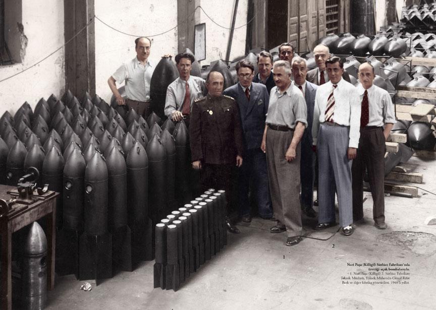 Nuri Killigil Pasa Sutluce Fabrikasinda urettigi ucak bombalariyla