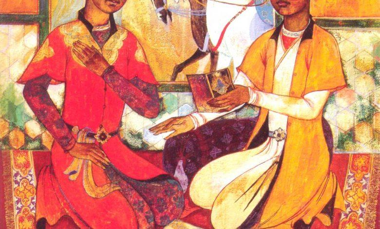 Ali Sir Nevai ve Huseyin Baykara gencliklerinde 1968 Ozbekistan Devlet Sanat Muzesi Javlon Umarbekov 1946 dogumlu