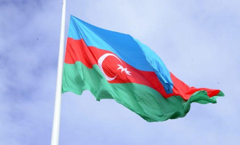Azerbaycan Bayragi Ucrəngli Bayraq