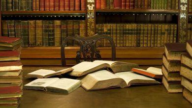 Kutuphane Antik Kitaplar ve Masa