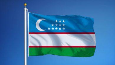 Ozbekistan Bayragi Dalgalanan